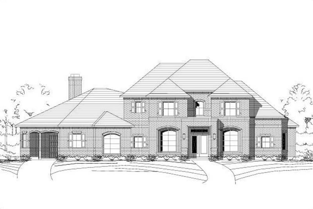 Luxury home plan (ThePlanCollection: House Plan #156-2345)