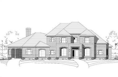 4-Bedroom, 4008 Sq Ft Luxury Home Plan - 156-2345 - Main Exterior