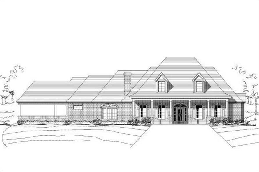 4-Bedroom, 3220 Sq Ft Country House Plan - 156-2346 - Front Exterior