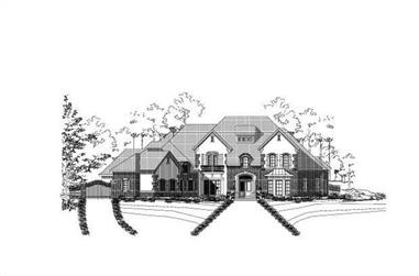 5-Bedroom, 6998 Sq Ft Country Home Plan - 156-2347 - Main Exterior