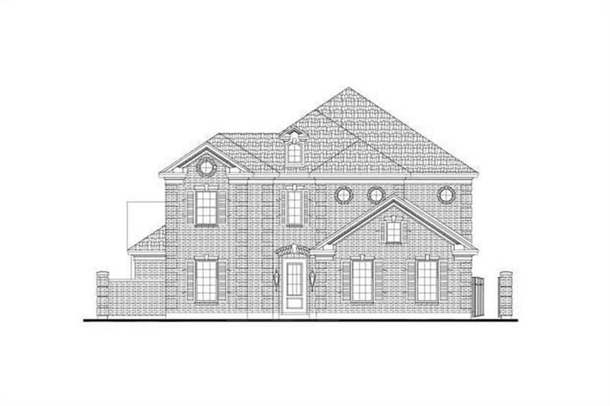 4-Bedroom, 3708 Sq Ft Luxury Home Plan - 156-2350 - Main Exterior
