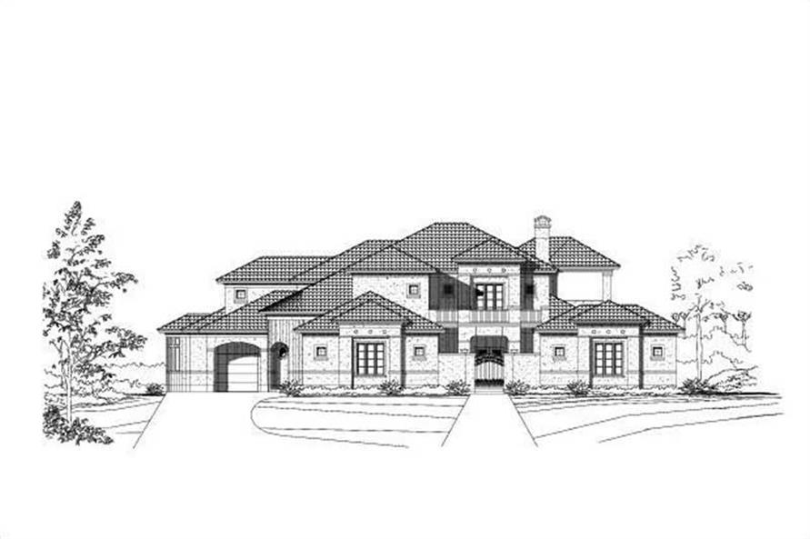 5-Bedroom, 5378 Sq Ft Luxury Home Plan - 156-2353 - Main Exterior