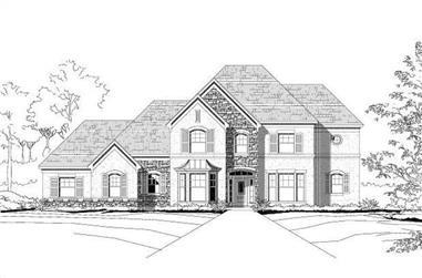 4-Bedroom, 3840 Sq Ft Mediterranean Home Plan - 156-2355 - Main Exterior