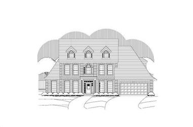 4-Bedroom, 3514 Sq Ft Luxury Home Plan - 156-2357 - Main Exterior
