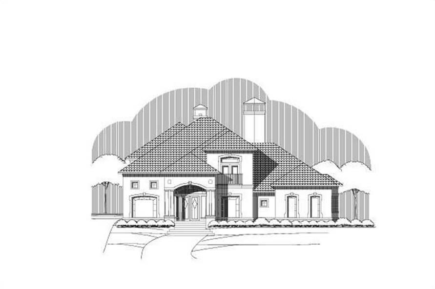4-Bedroom, 5158 Sq Ft Luxury House Plan - 156-2359 - Front Exterior
