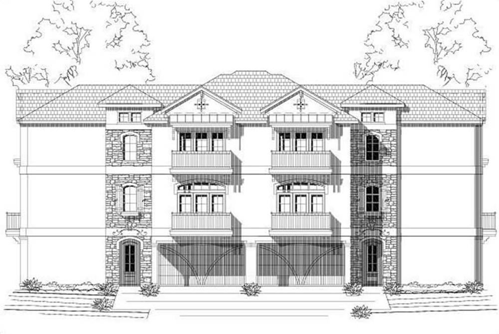 Multi-Unit home (ThePlanCollection: Plan #156-2360)