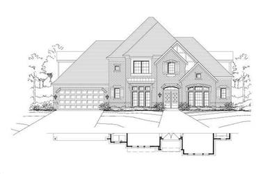 4-Bedroom, 4095 Sq Ft Luxury House Plan - 156-2361 - Front Exterior