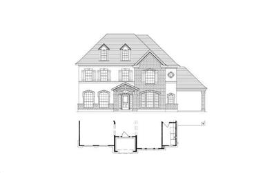 4-Bedroom, 3734 Sq Ft Luxury House Plan - 156-2363 - Front Exterior