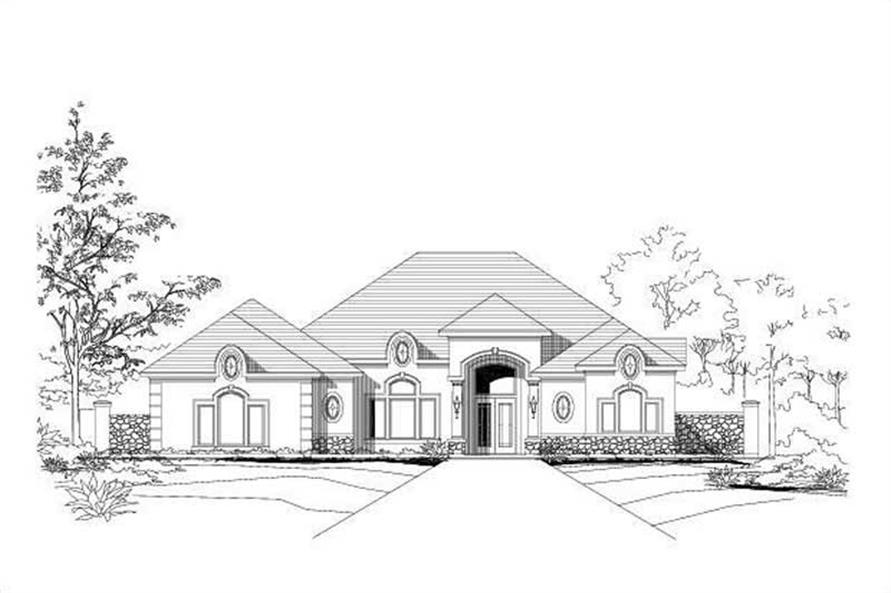 3-Bedroom, 3379 Sq Ft Country House Plan - 156-2364 - Front Exterior