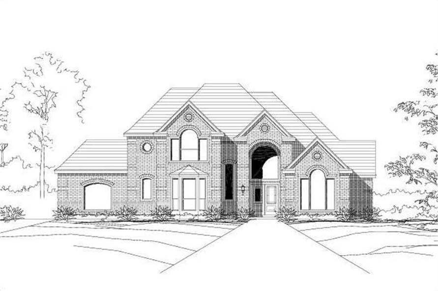 4-Bedroom, 3391 Sq Ft Luxury House Plan - 156-2365 - Front Exterior