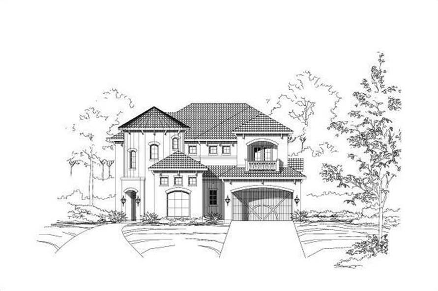 4-Bedroom, 3767 Sq Ft Mediterranean House Plan - 156-2366 - Front Exterior