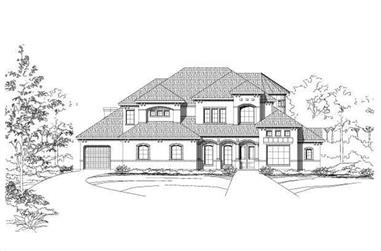 4-Bedroom, 5520 Sq Ft Luxury House Plan - 156-2367 - Front Exterior