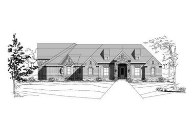 4-Bedroom, 3055 Sq Ft Country Home Plan - 156-2369 - Main Exterior