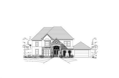5-Bedroom, 3520 Sq Ft Luxury Home Plan - 156-2371 - Main Exterior