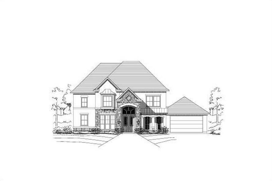 5-Bedroom, 3520 Sq Ft Luxury Home Plan - 156-2371 - Main Exterior