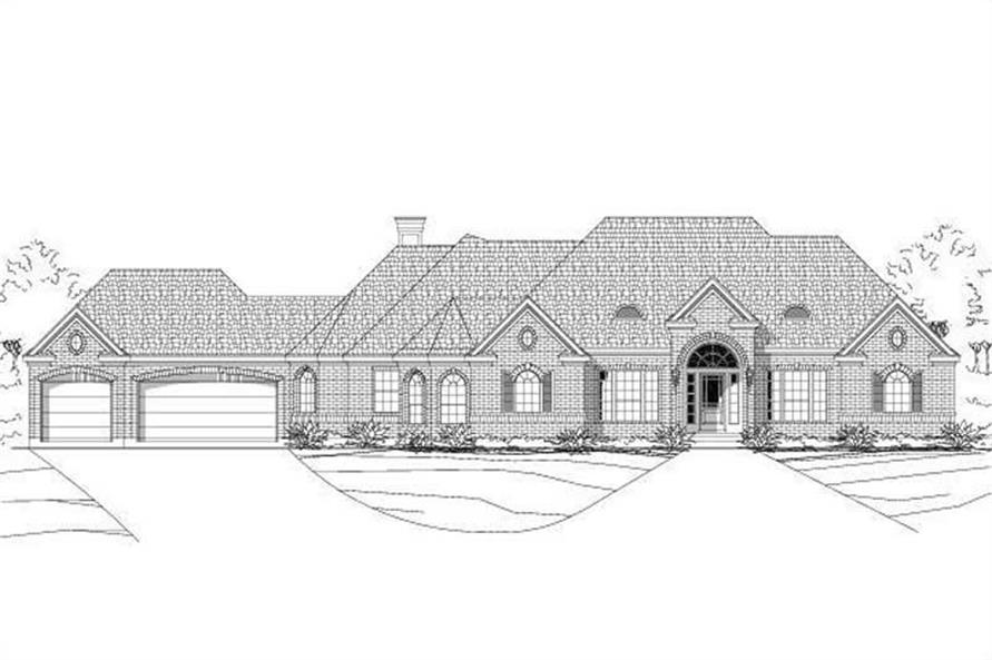 3-Bedroom, 2757 Sq Ft Ranch Home Plan - 156-2372 - Main Exterior