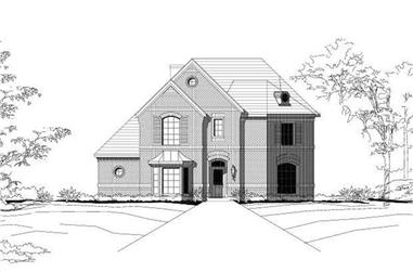 4-Bedroom, 3566 Sq Ft Luxury House Plan - 156-2373 - Front Exterior