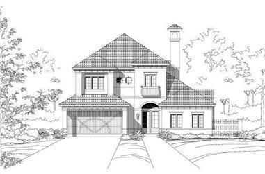 3-Bedroom, 3436 Sq Ft Mediterranean House Plan - 156-2374 - Front Exterior