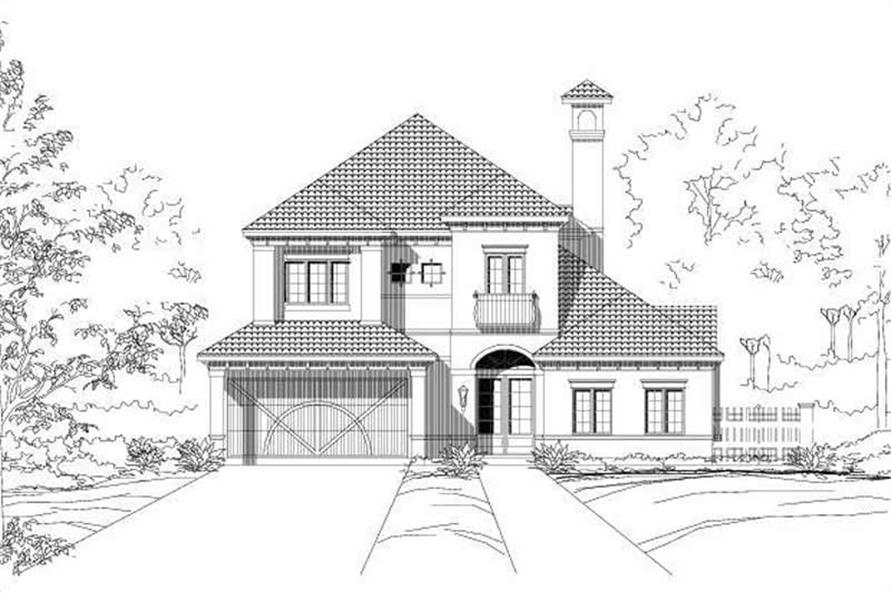 3-Bedroom, 3436 Sq Ft Mediterranean House Plan - 156-2374 - Front Exterior