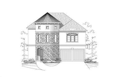 4-Bedroom, 3015 Sq Ft Mediterranean Home Plan - 156-2375 - Main Exterior