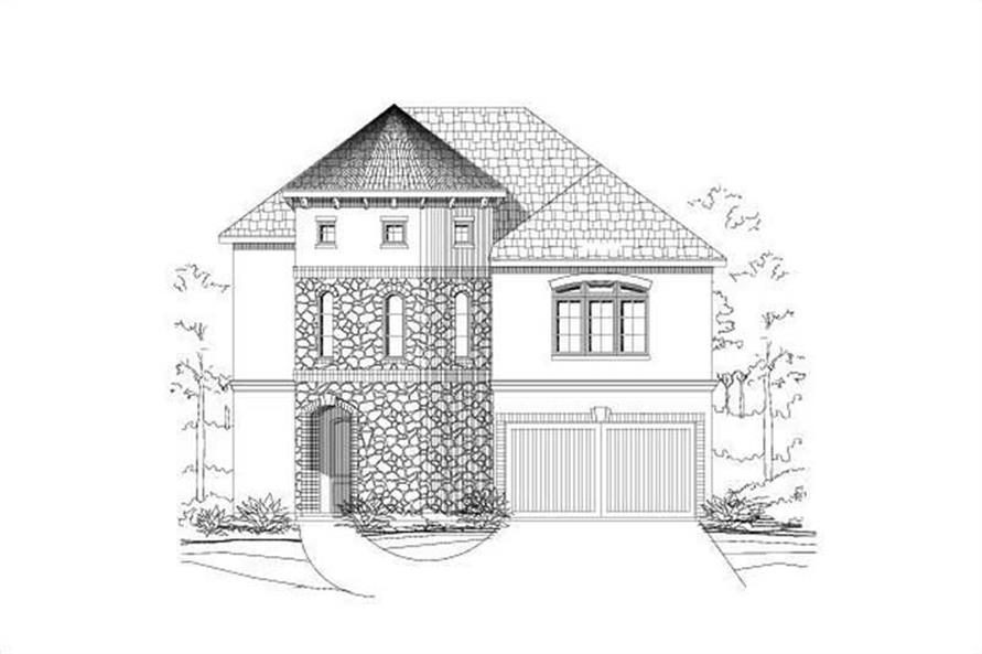 4-Bedroom, 3015 Sq Ft Mediterranean Home Plan - 156-2375 - Main Exterior