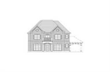 5-Bedroom, 3995 Sq Ft Colonial Home Plan - 156-2376 - Main Exterior