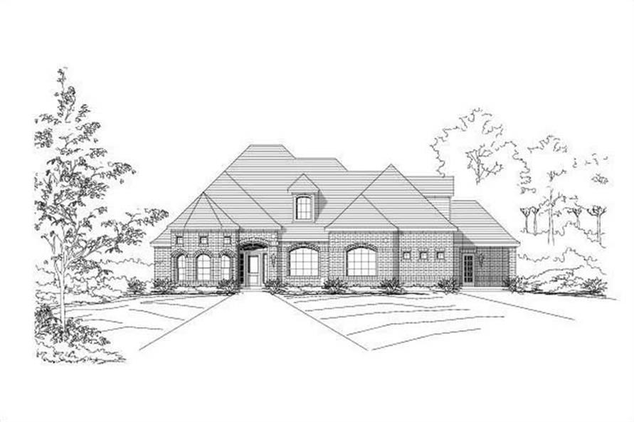 3-Bedroom, 2793 Sq Ft Ranch Home Plan - 156-2377 - Main Exterior