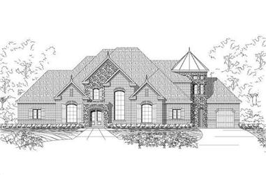 4-Bedroom, 5126 Sq Ft Country Home Plan - 156-2379 - Main Exterior