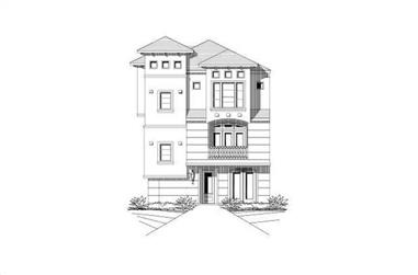 3-Bedroom, 2227 Sq Ft Luxury House Plan - 156-2380 - Front Exterior