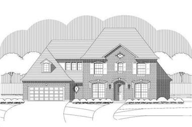 4-Bedroom, 3600 Sq Ft Luxury House Plan - 156-2381 - Front Exterior