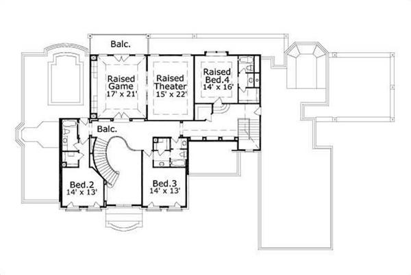 HOME PLAN NUMBER 1160 SECOND STORY FLOOR PLAN