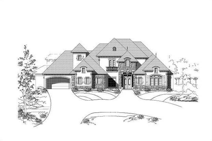 4-Bedroom, 6160 Sq Ft Country Home Plan - 156-2383 - Main Exterior
