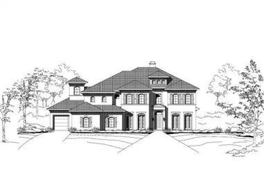 4-Bedroom, 5708 Sq Ft Mediterranean Home Plan - 156-2385 - Main Exterior