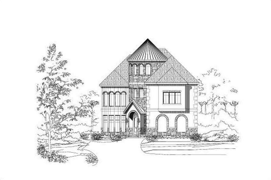 4-Bedroom, 4214 Sq Ft Luxury Home Plan - 156-2386 - Main Exterior