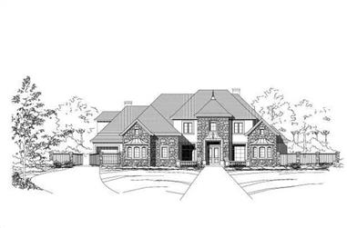 5-Bedroom, 5383 Sq Ft Country Home Plan - 156-2387 - Main Exterior