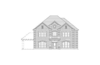 5-Bedroom, 4329 Sq Ft Luxury House Plan - 156-2388 - Front Exterior