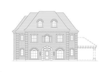 5-Bedroom, 3770 Sq Ft Luxury Home Plan - 156-2389 - Main Exterior
