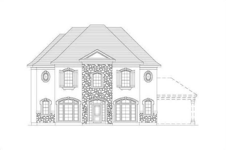 5-Bedroom, 3601 Sq Ft Country Home Plan - 156-2390 - Main Exterior