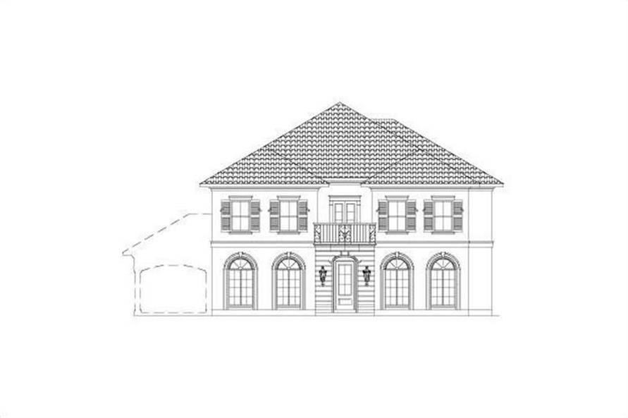 5-Bedroom, 4118 Sq Ft French House Plan - 156-2392 - Front Exterior
