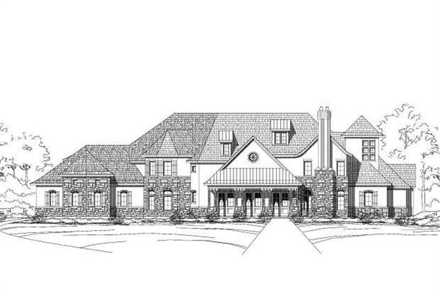 5-Bedroom, 6751 Sq Ft Country House Plan - 156-2397 - Front Exterior