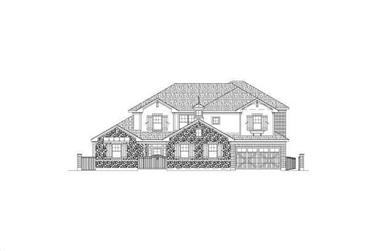 5-Bedroom, 4840 Sq Ft Country House Plan - 156-2401 - Front Exterior