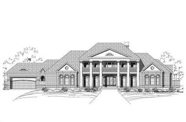 4-Bedroom, 6326 Sq Ft Colonial House Plan - 156-2406 - Front Exterior