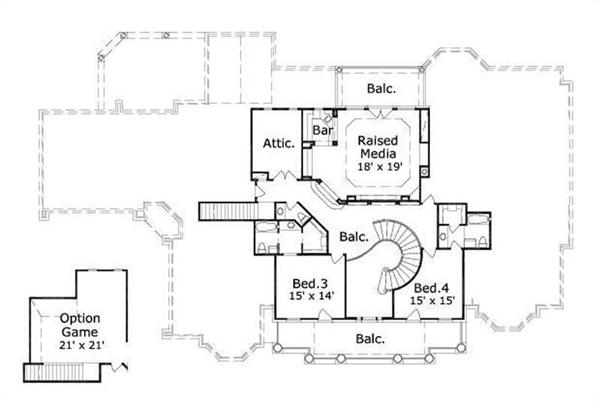 HOME PLAN NUMBER 20264 SECOND STORY FLOOR PLAN