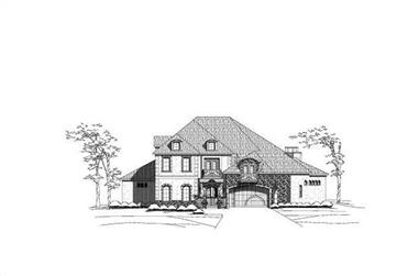 3-Bedroom, 5773 Sq Ft Luxury House Plan - 156-2408 - Front Exterior