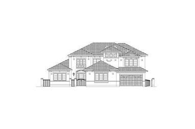 5-Bedroom, 4714 Sq Ft Mediterranean House Plan - 156-2409 - Front Exterior