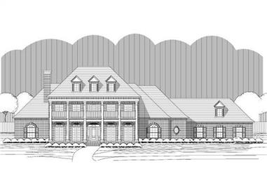 6-Bedroom, 5172 Sq Ft Colonial Home Plan - 156-2412 - Main Exterior
