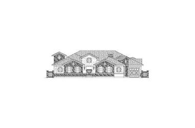 4-Bedroom, 4237 Sq Ft Country House Plan - 156-2413 - Front Exterior