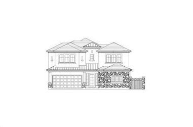 3-Bedroom, 2754 Sq Ft Tuscan House Plan - 156-2414 - Front Exterior