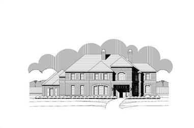 6-Bedroom, 6624 Sq Ft Luxury Home Plan - 156-2415 - Main Exterior