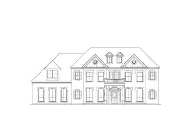 4-Bedroom, 4130 Sq Ft French Home Plan - 156-2416 - Main Exterior